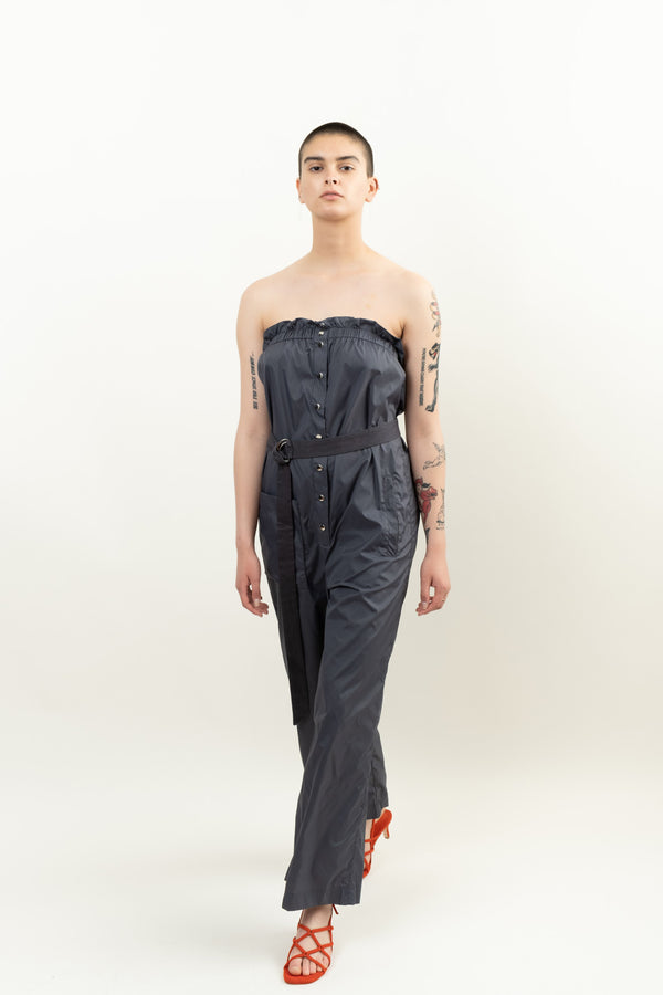 Tibi Strapless Jumpsuit W/Removable Ties