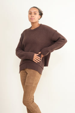 Kristensen du Nord thick ribbed cashmere sweater