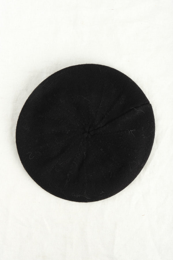 Micaela Greg Felted Beret Black