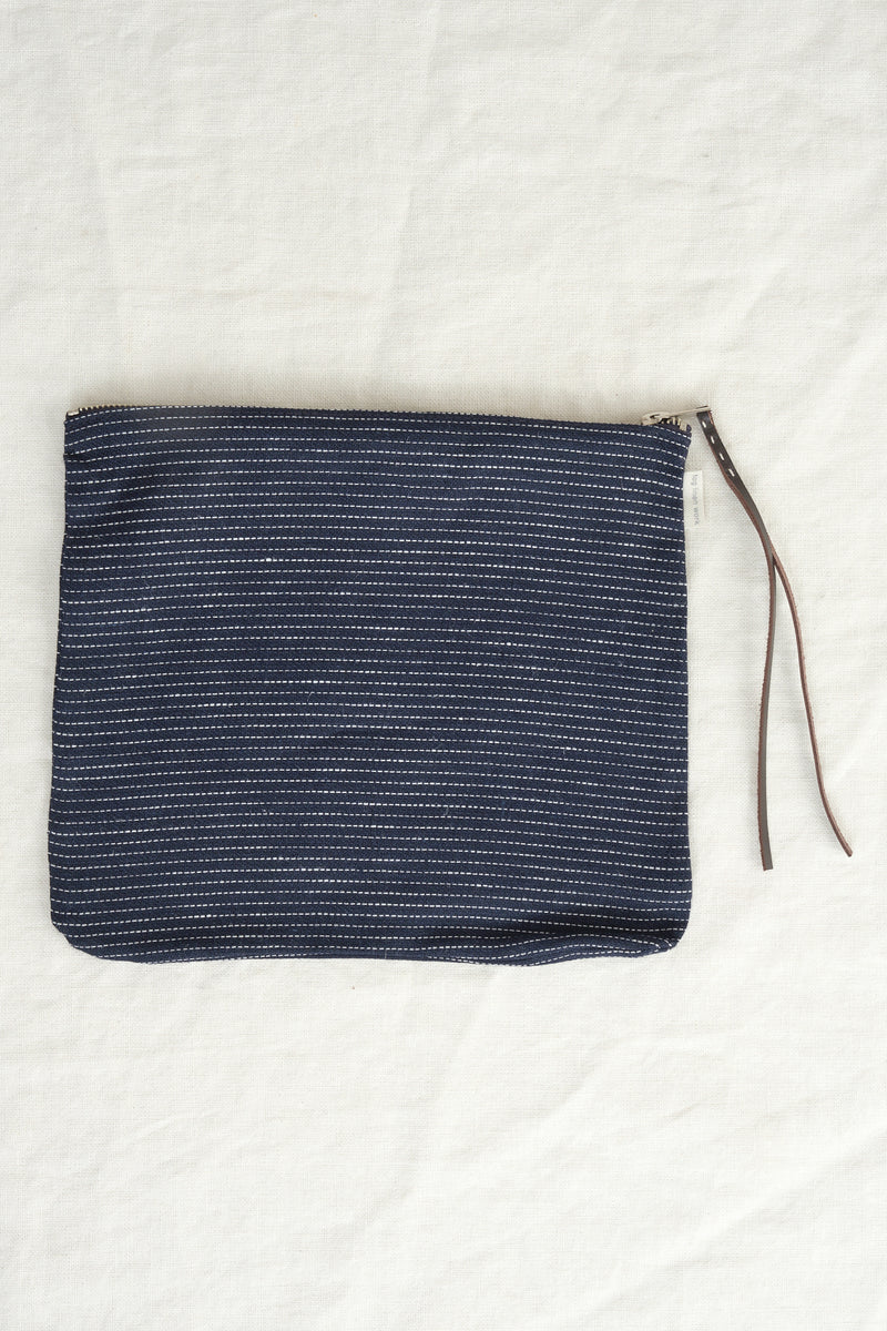 Fog Linen Work zipper pouch in stock