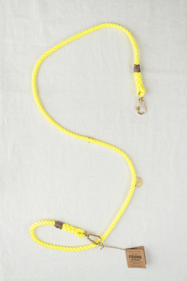 Found My Animal Rope Dog Leash In Neon Yellow