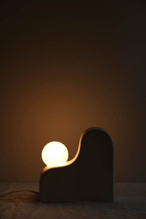 SIN Boulder Table Lamp Snow