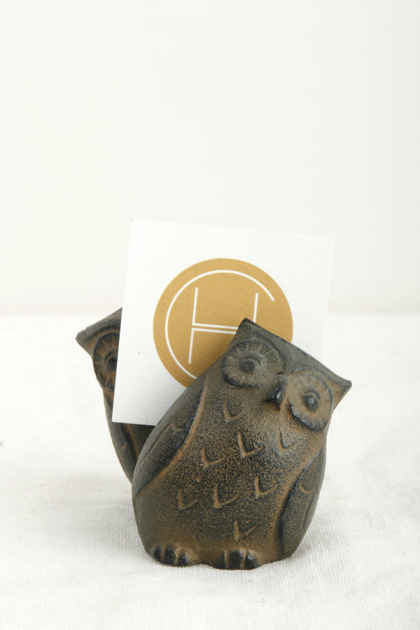 Hakahodou Owl Memo Holder