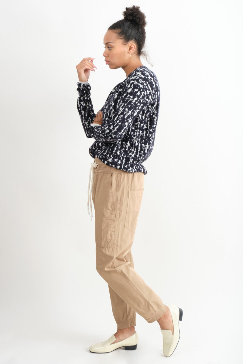 Bassike Utility Cotton Jersey Pant In Tan