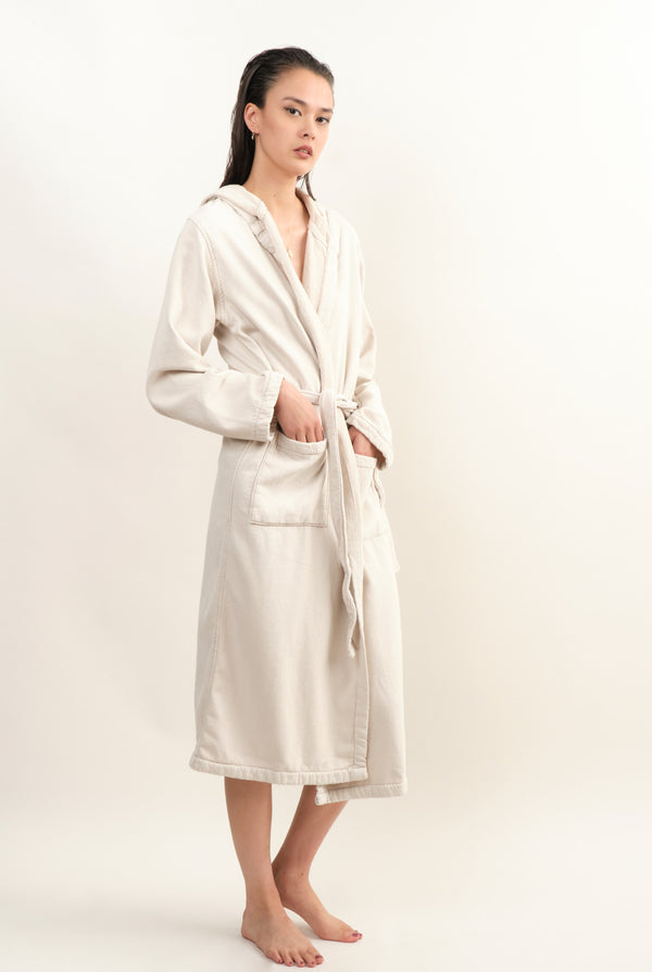 Saarde Vintage Wash Robe In Clay