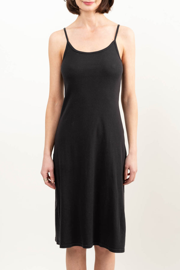 Simple Black Slip Dress
