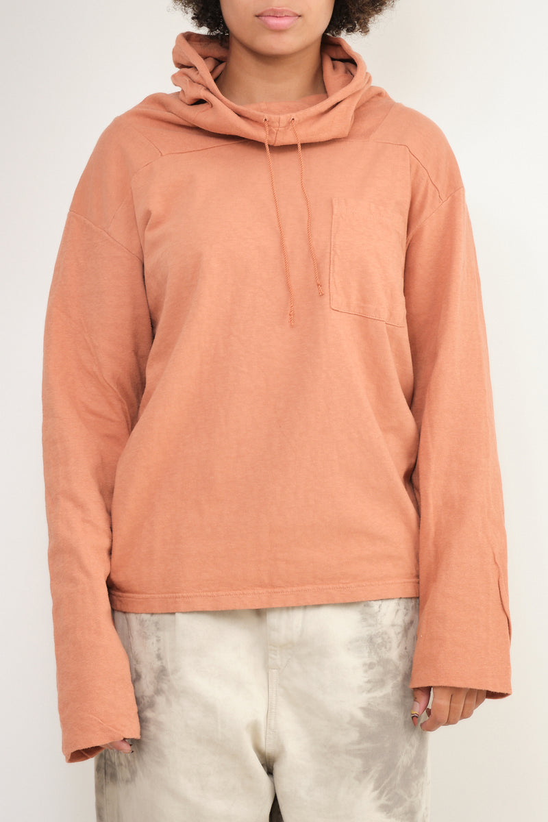 kapital Jersey x Gauze Jersey ESKIMO Hooded Tee in Light Brown