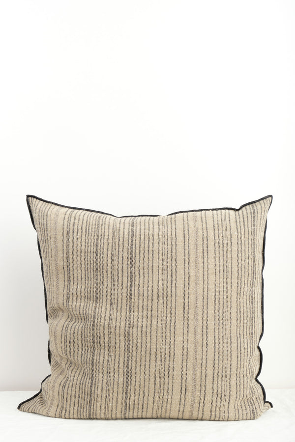 Maison de Vacances Canvas Vice Versa Cushion Naturel/Noir