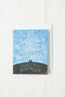 Small Adventure Zodiac Birthday Card
