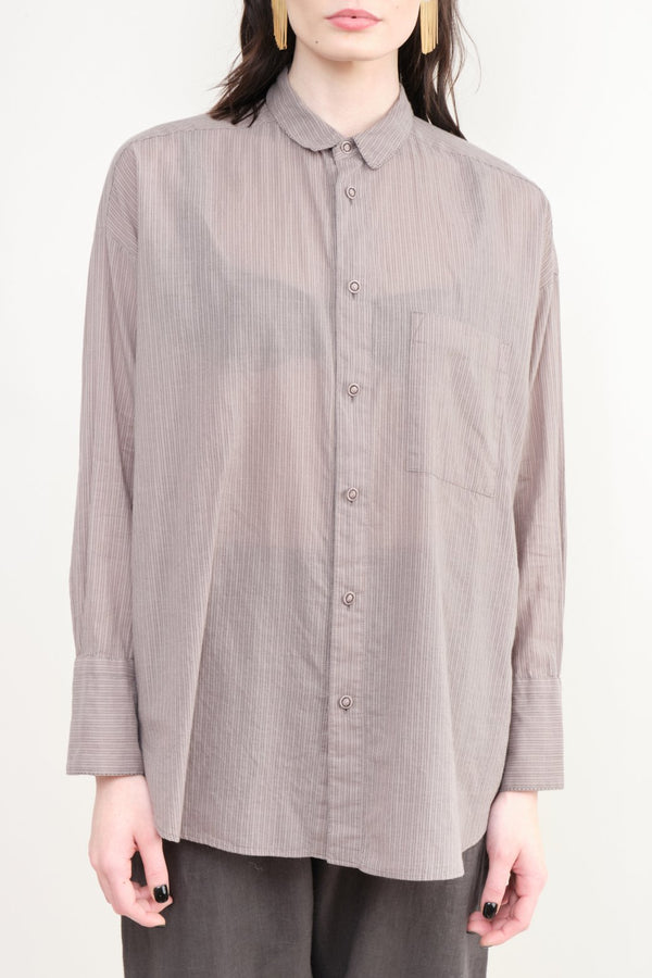 pas de calais Striped Cotton Blouse