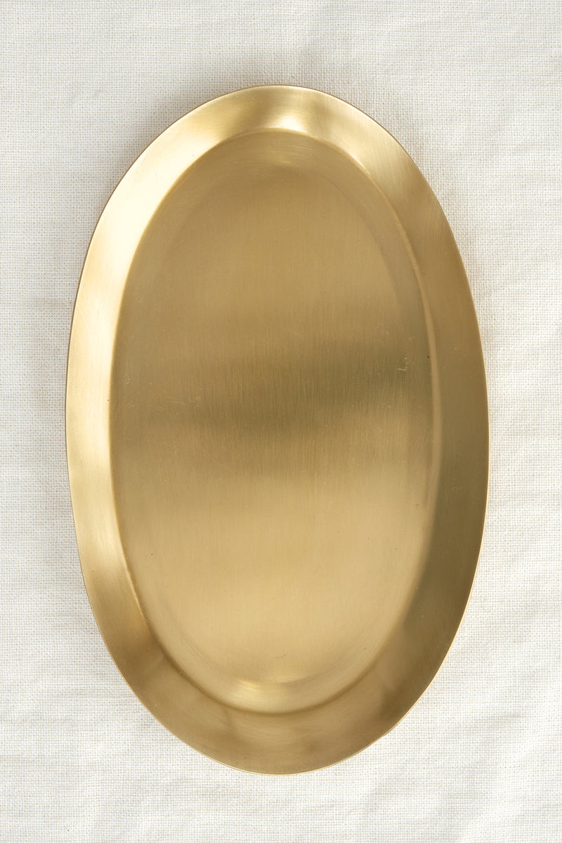 brass oval tray Fog Linen Work