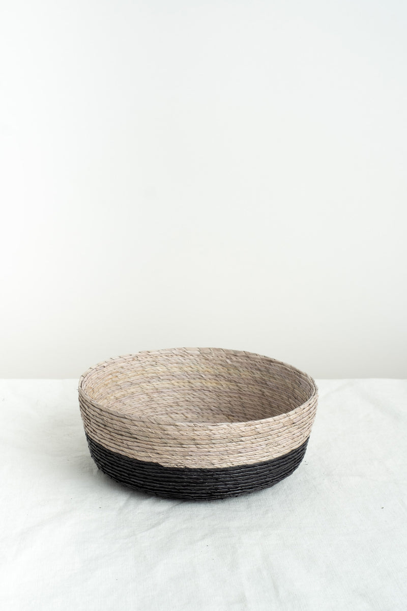 Makaua Round Basket In Arena/Carbon