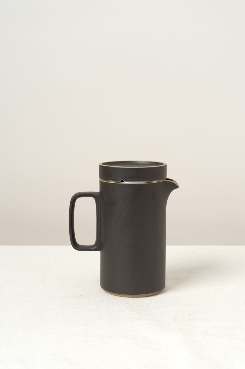 hasami porcelain tall teapot in black