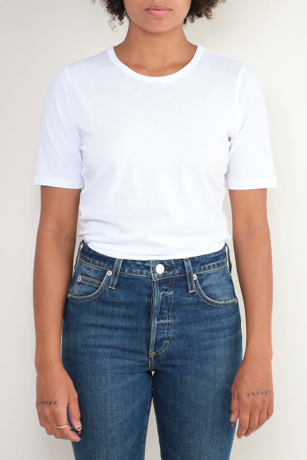 slim tee in white Amo Denim