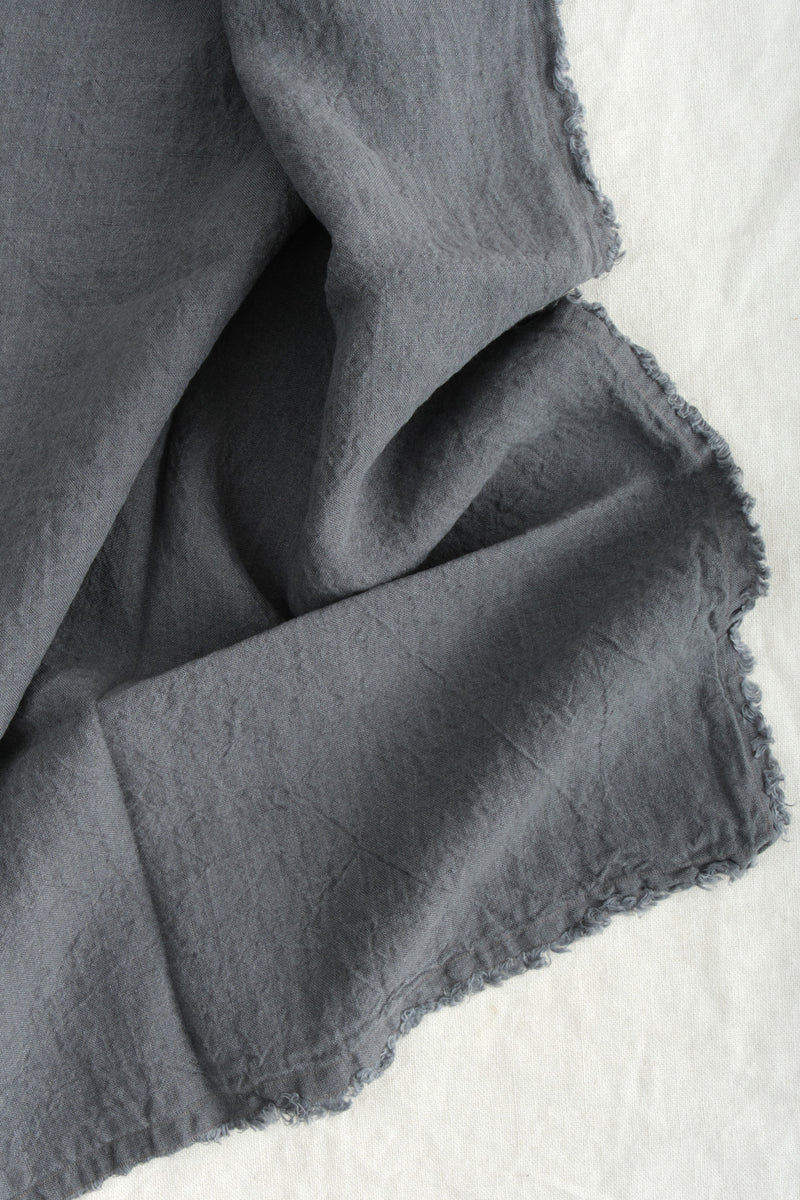 Hale Mercantile Flocca King Pillowcase Charcoal