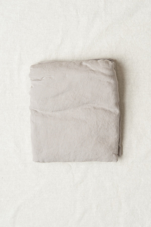 cool grey linen fitted sheets