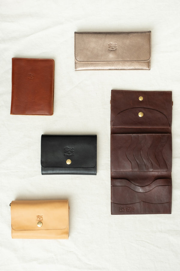 Il Bisonte Snap Button Wallet