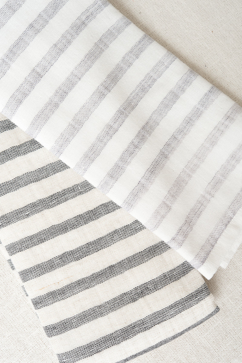 Yoshii Linen Border Face Towel Stripe