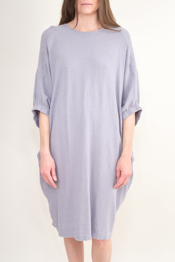 Black Crane Xiao Dress In Lavender
