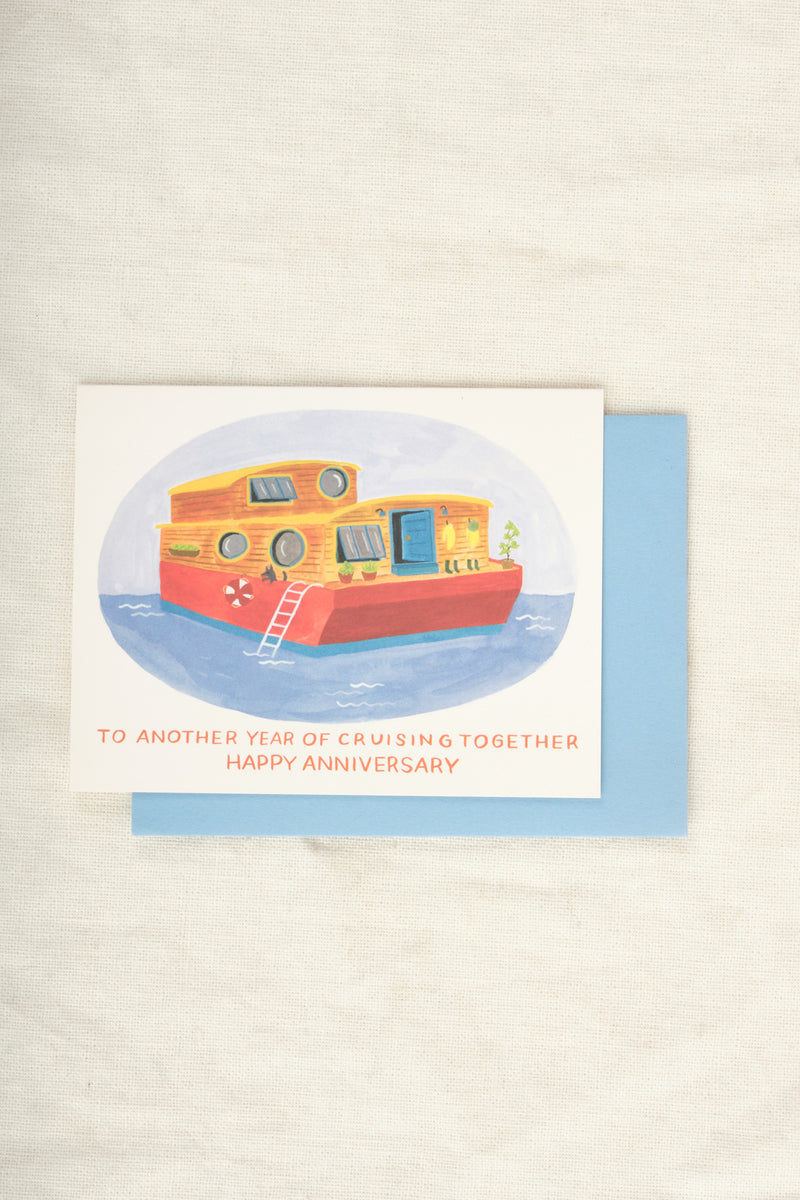 Houseboat Anniversary Card