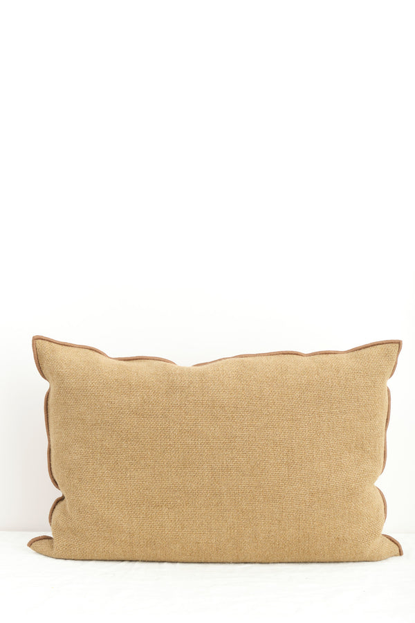 "Maison de Vacances 16 x 24"" Vice Versa Cushion In Cappuccino"