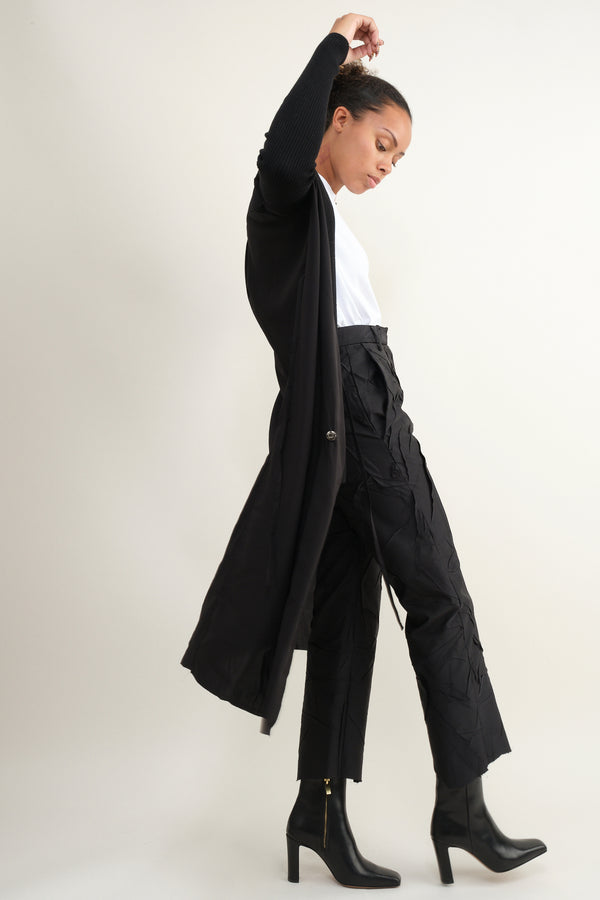 MM6 Maison Margiela crushed taffeta trouser