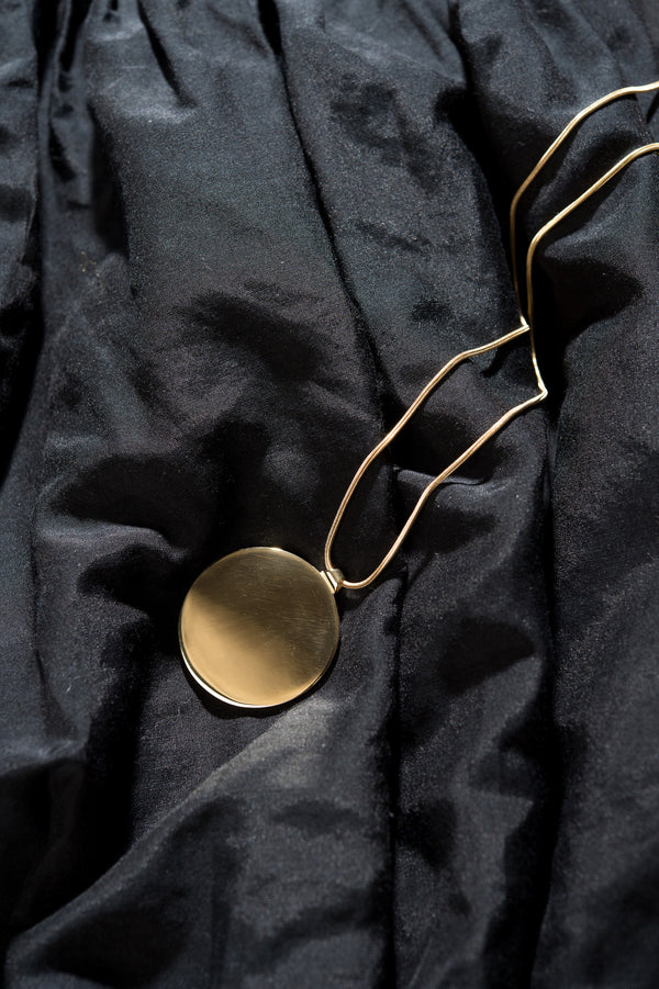 Gabriela Artigas Medium Disc Pendant in 14K Plated