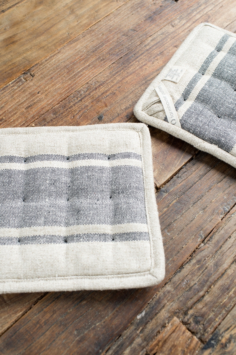 cotton-linen potholders
