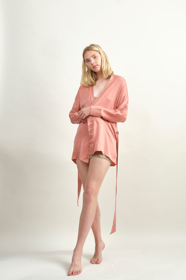 Kent ZAM Robe In Deep Blush