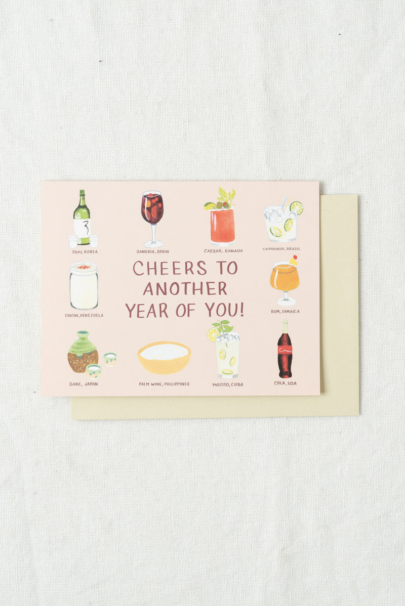 Small Adventure Birthday Drinks of the World Card
