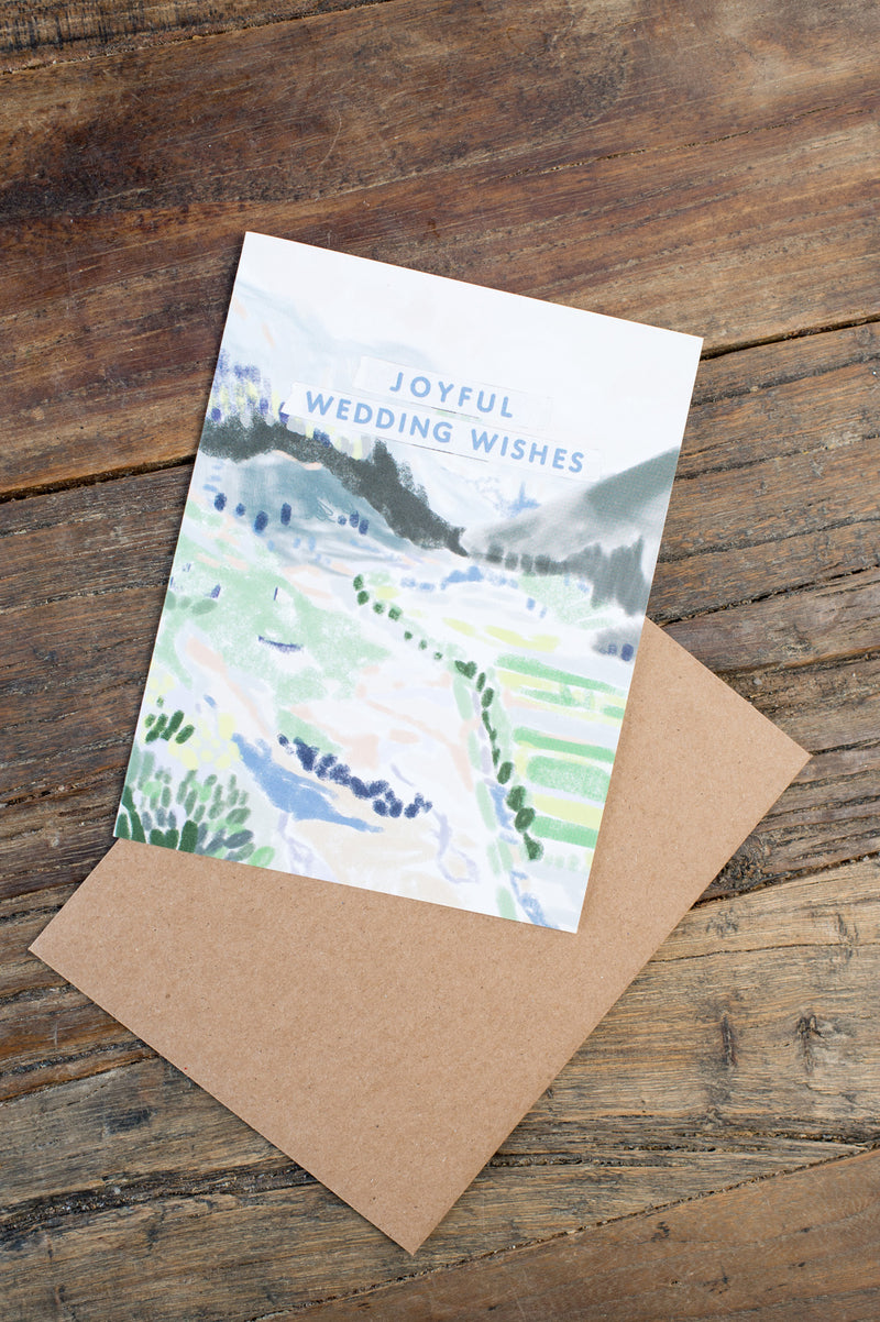 Ferme A Papier Provence Wedding Wishes Card