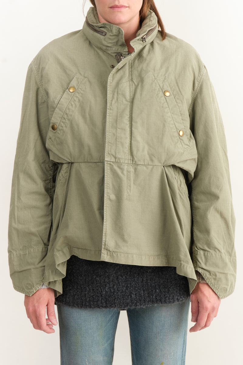 Kapital Rip Stop Army Burger Field Coat Khaki