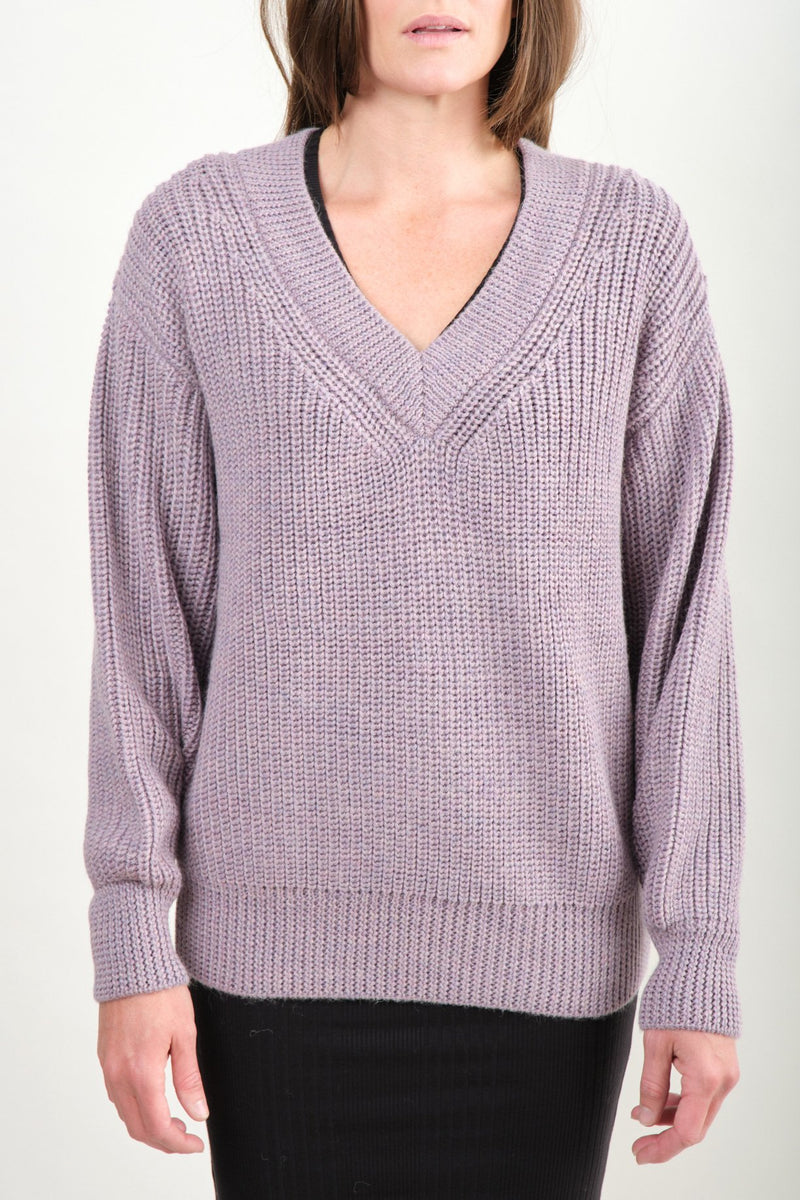 Revel Sweater In Lavender Mara Hoffman