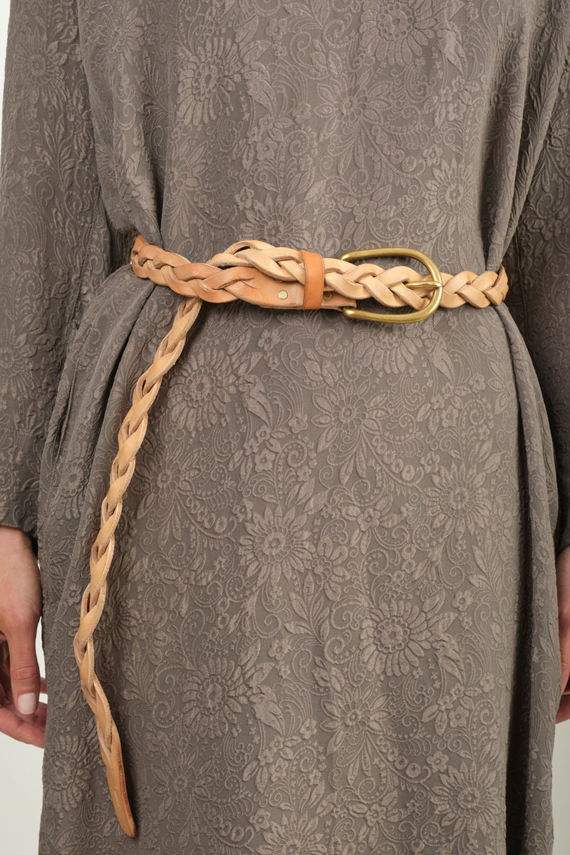 Women's Braided Leather Belt