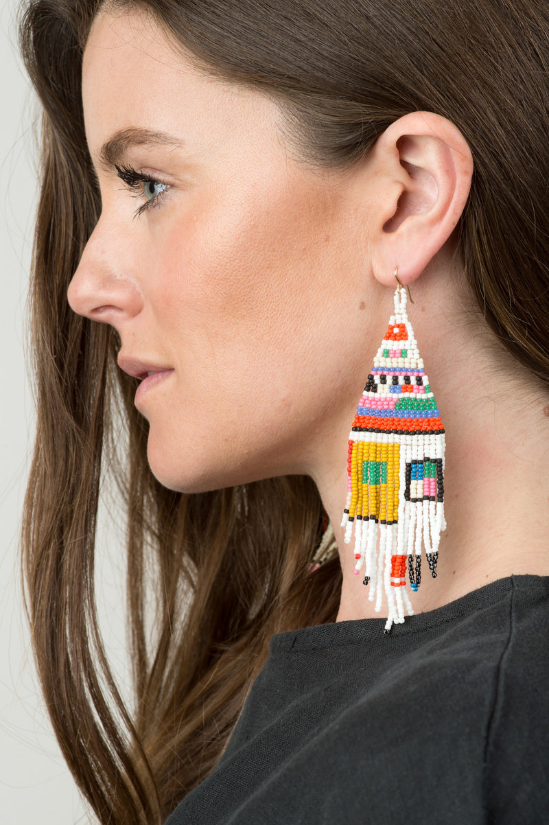 colorful beaded earrings