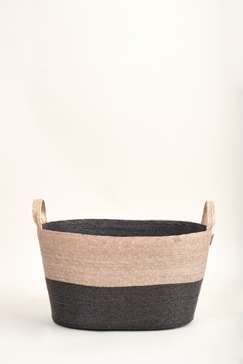 makaua carbon Large Oval Floor Basket