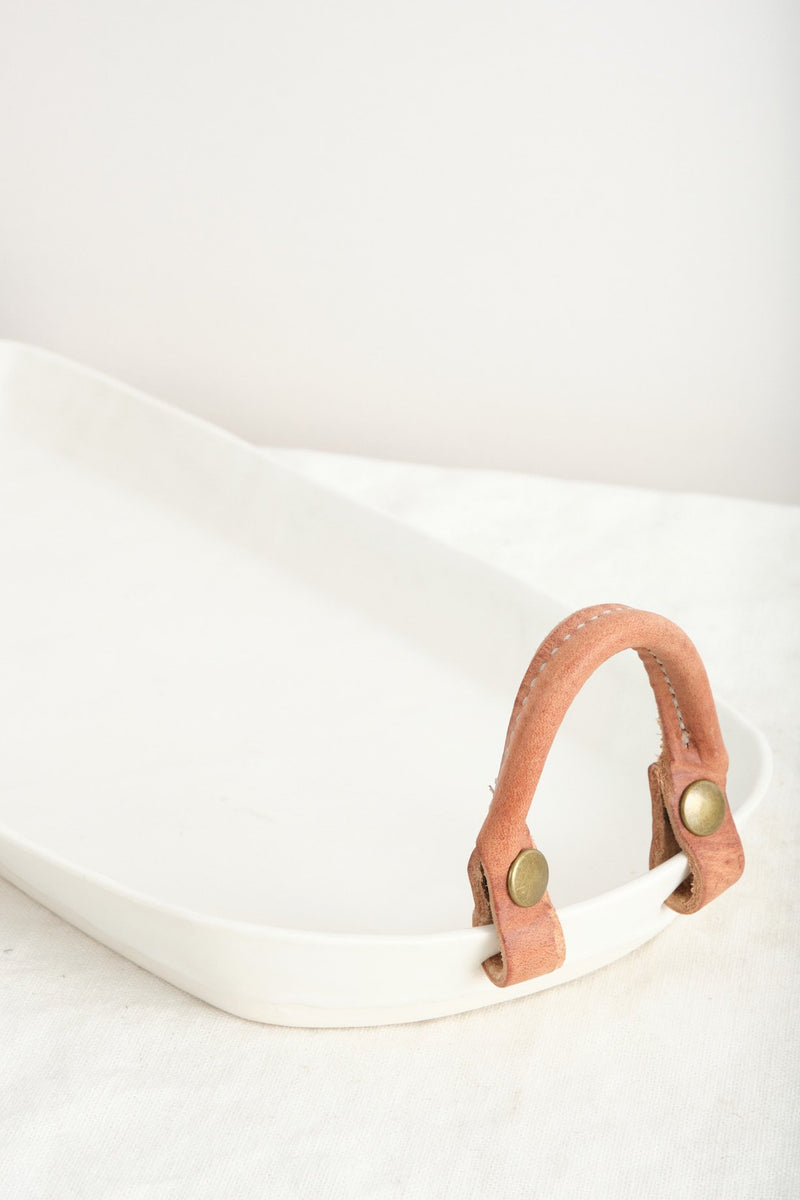 Dbo Home Remo Long Tray Leather Handles