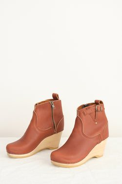 "No. 6 5"" Buckle Boot on Wedge"