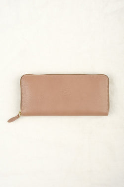 Il Bisonte Zip Around Wallet In Orzo