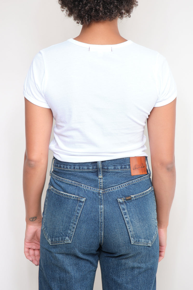 AMO denim cotton tees