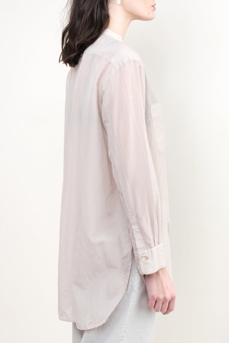pas de calais Silk Button Down Blouse Oversized Fit