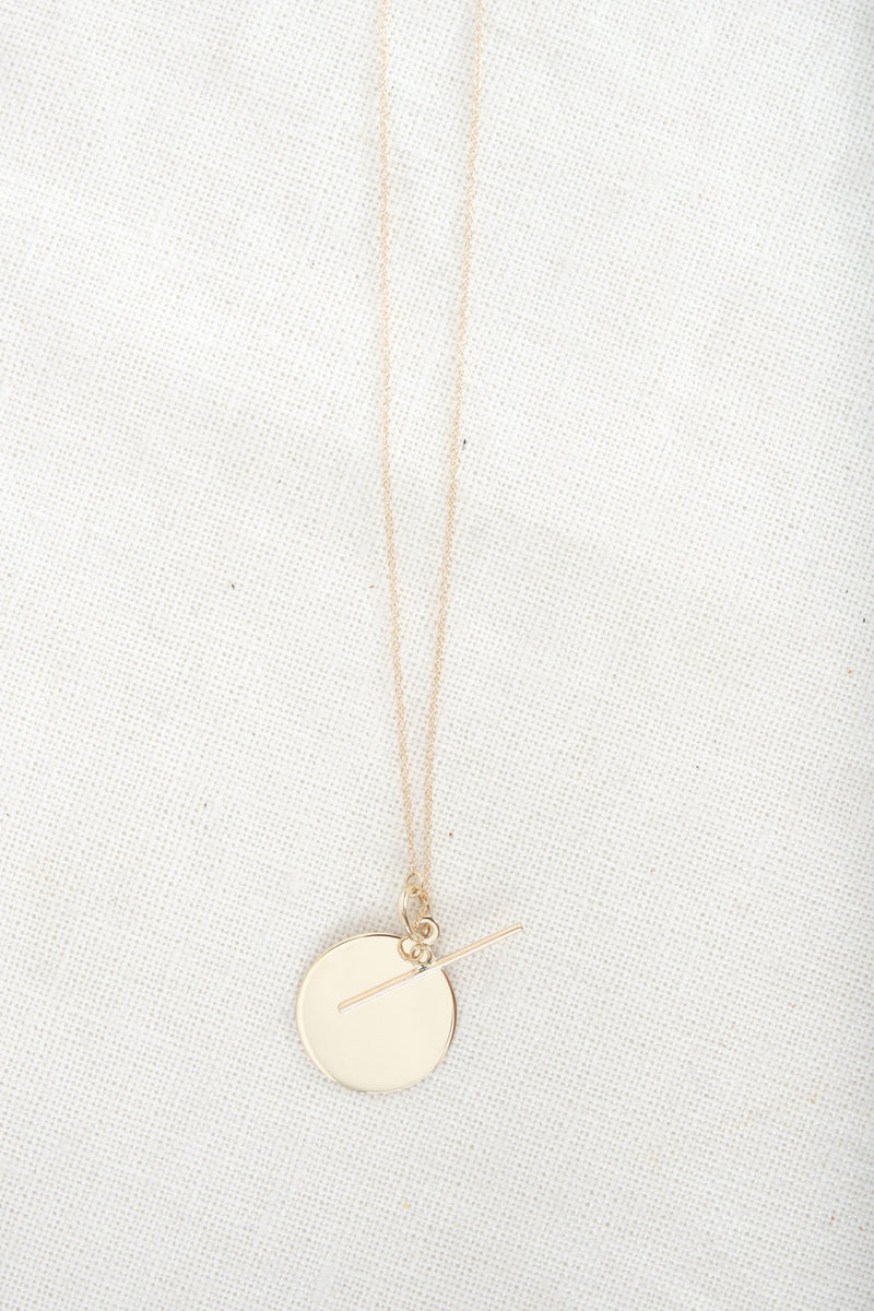 Loren Stewart Disk & Toggle pendant Necklace