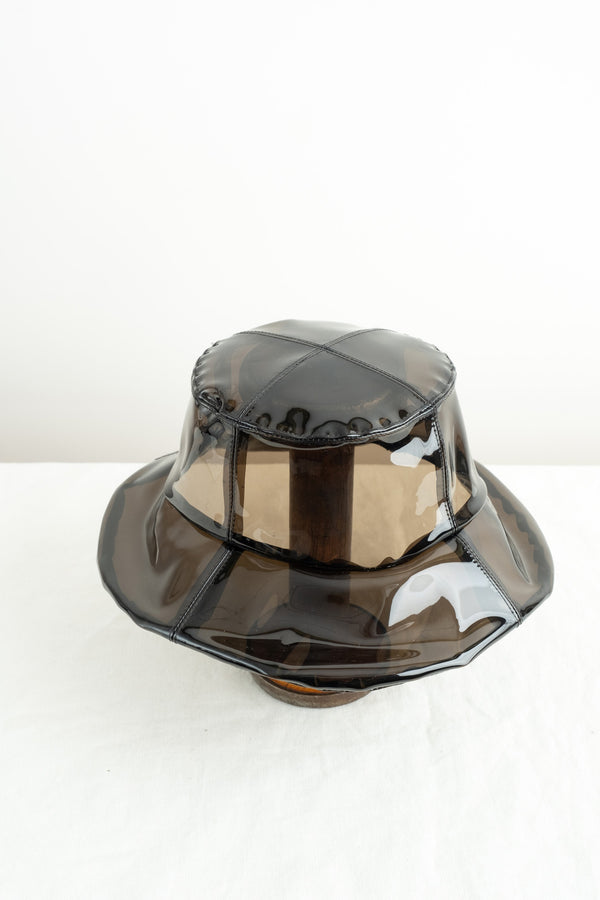 Clyde Bucket Hat In Smoke Vinyl