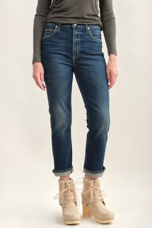 Amo Denim Chloe Crop Indigo Wash