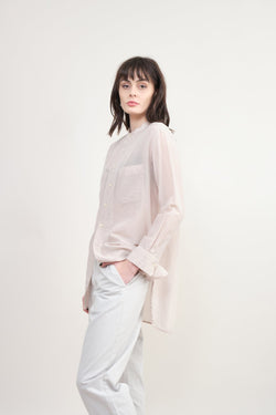 pas de calais Silk Button Down Blouse