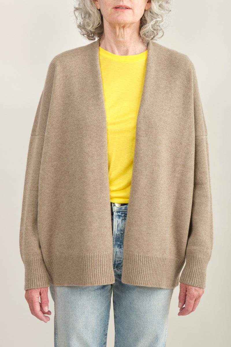 Lauren Manoogian Oversize Simple Cardigan Natural Brown