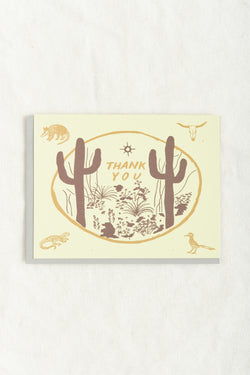 Sonoran Thank You Card Small Adventure