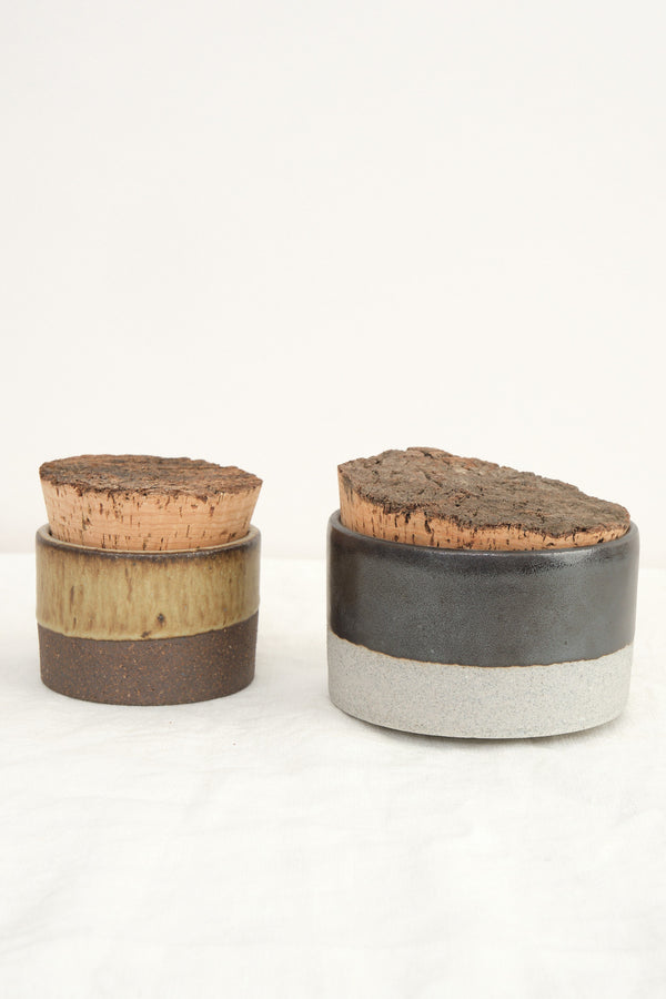 cork canisters Humble Ceramics