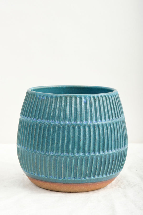 Mt. Washington Pottery Small Planter In Turquoise