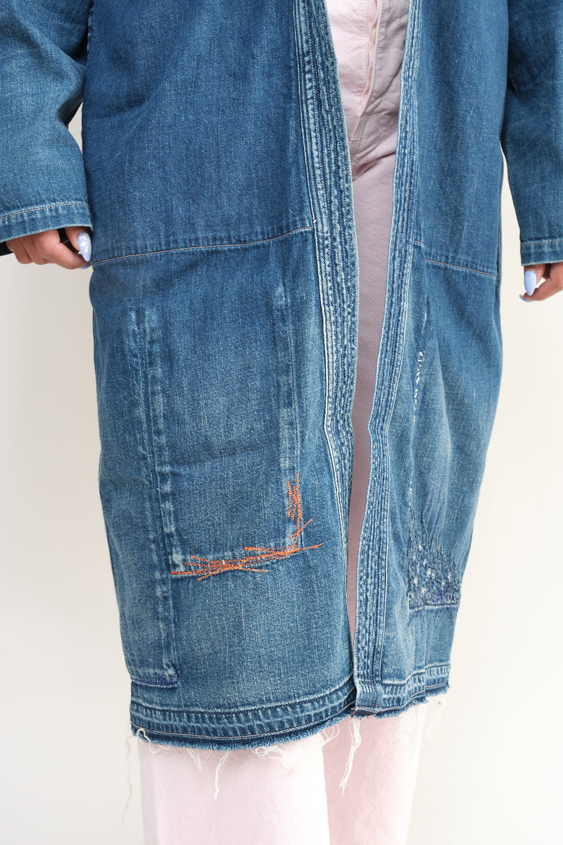 kapital denim long coat